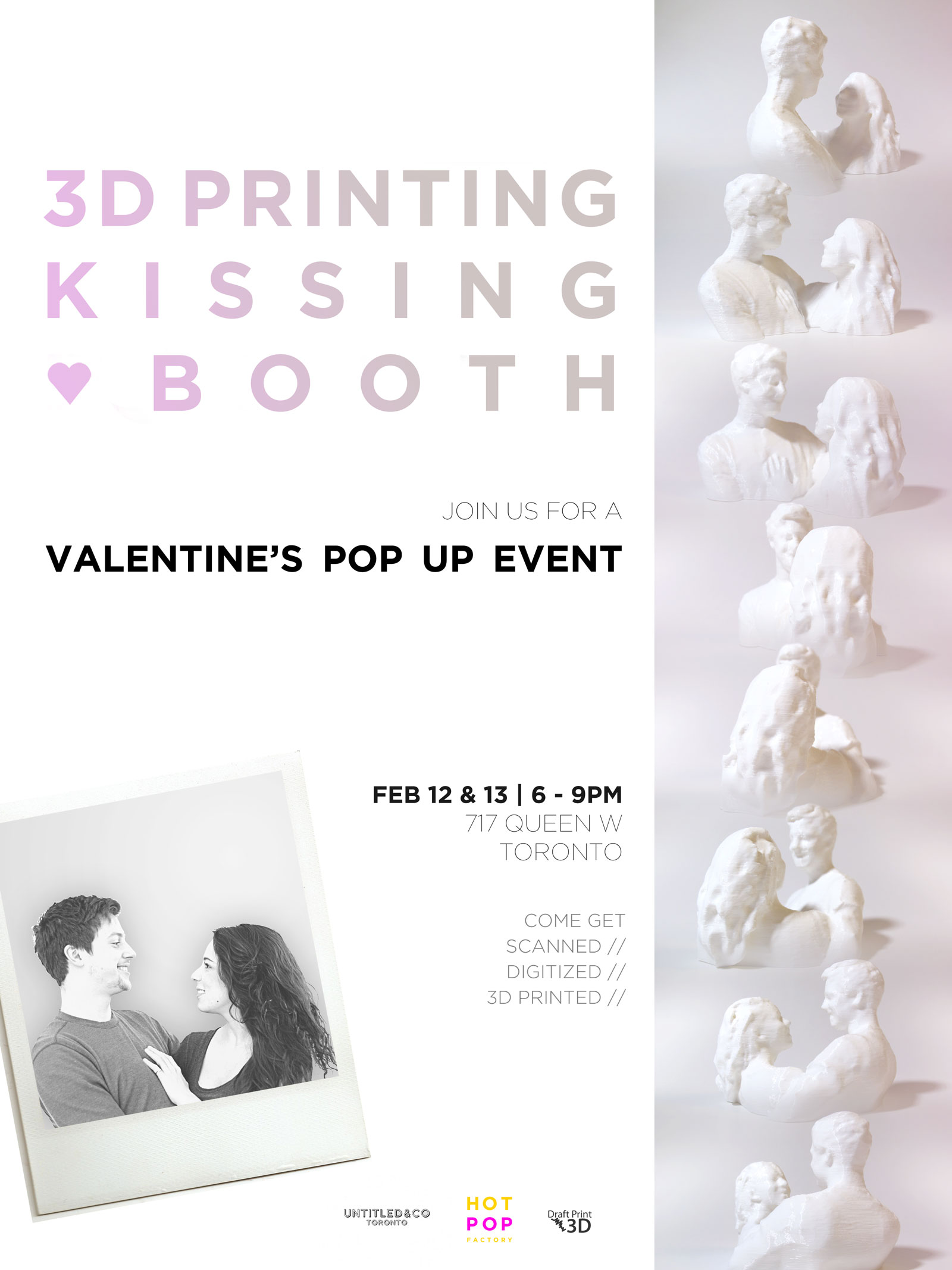3d Printing Kissing Booth Hot Pop Factory Laser Cutting