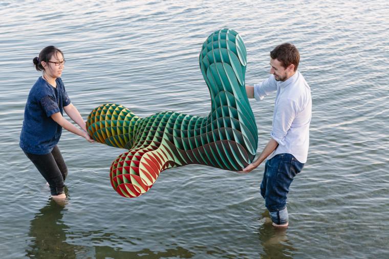 Laser Cut Sculpture Art in Water