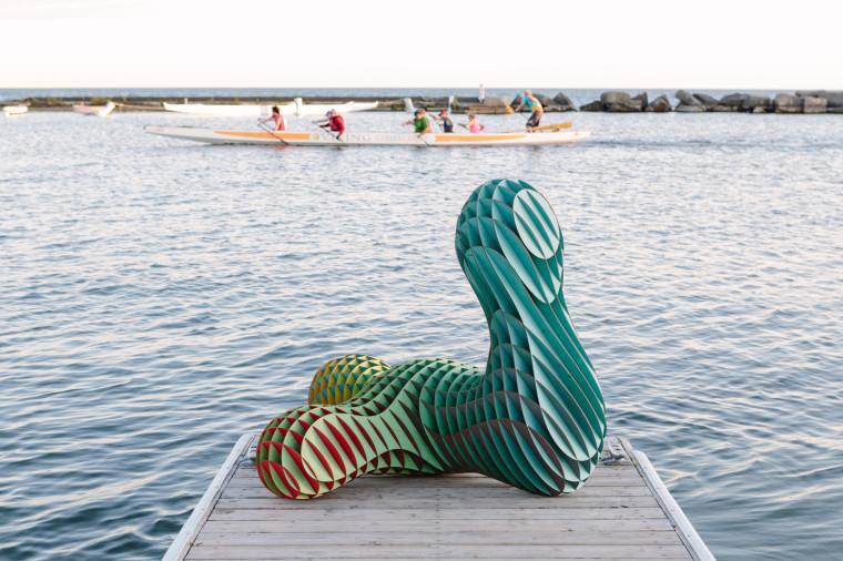 Laser Cut Sculpture Art on Dock 01