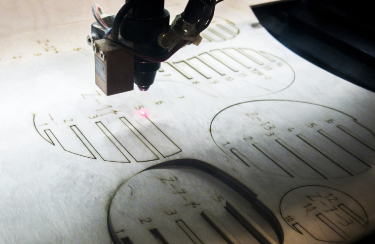 Laser Cutter Cutting Wood