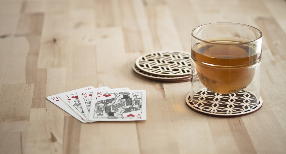 Kings of India Wooden Coasters