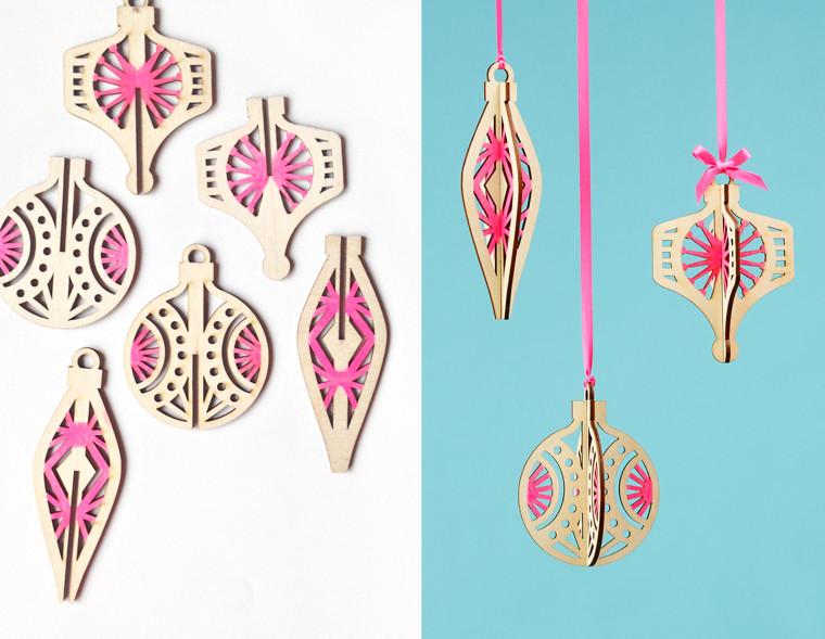 The Sweet Escape laser cut ornaments