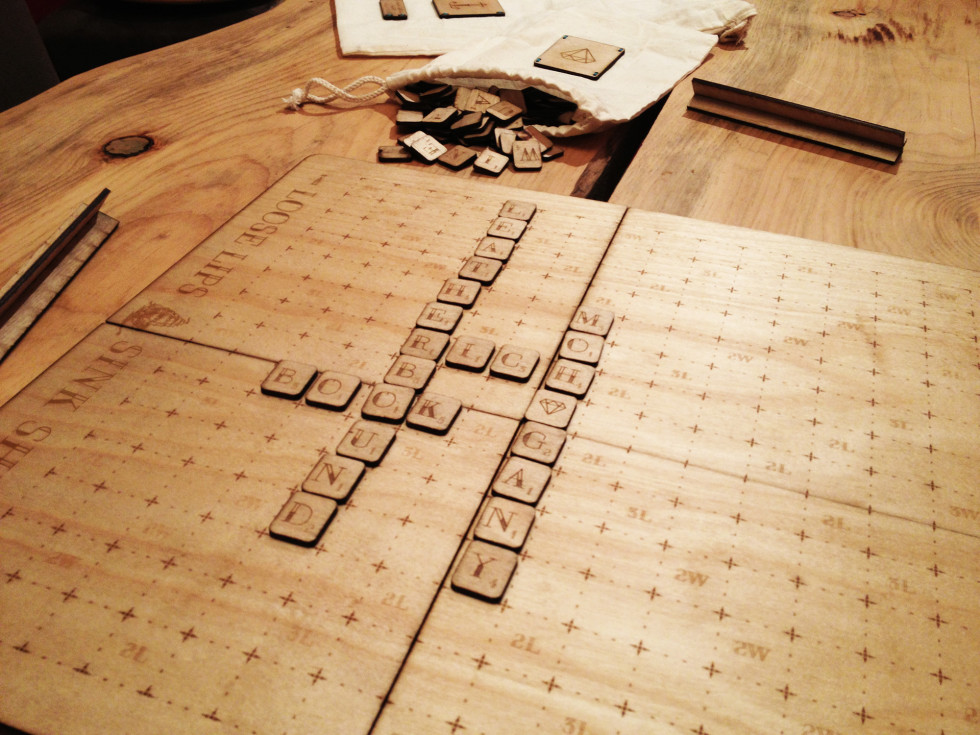 laser engraved wood scrabble