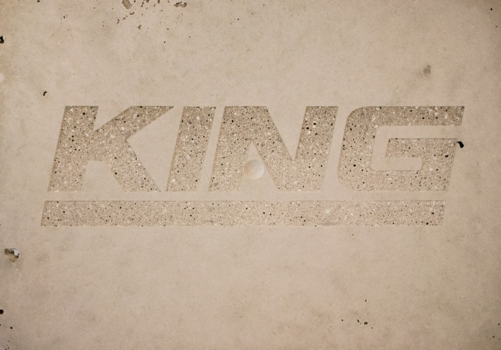 laser engraved concrete