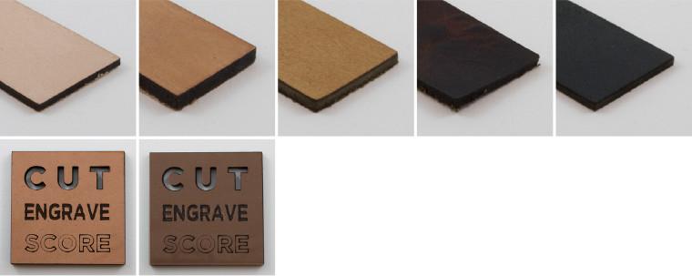 laser engraved leather