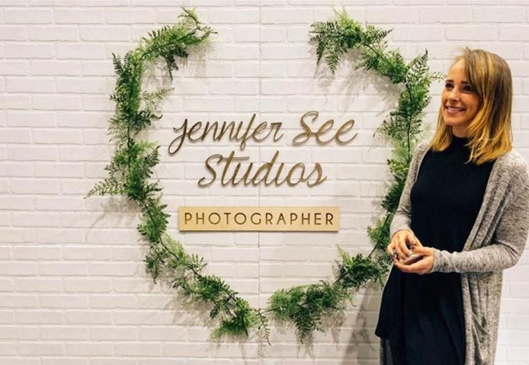 Birch Wood Laser Cut Signage for Jennifer See Studios