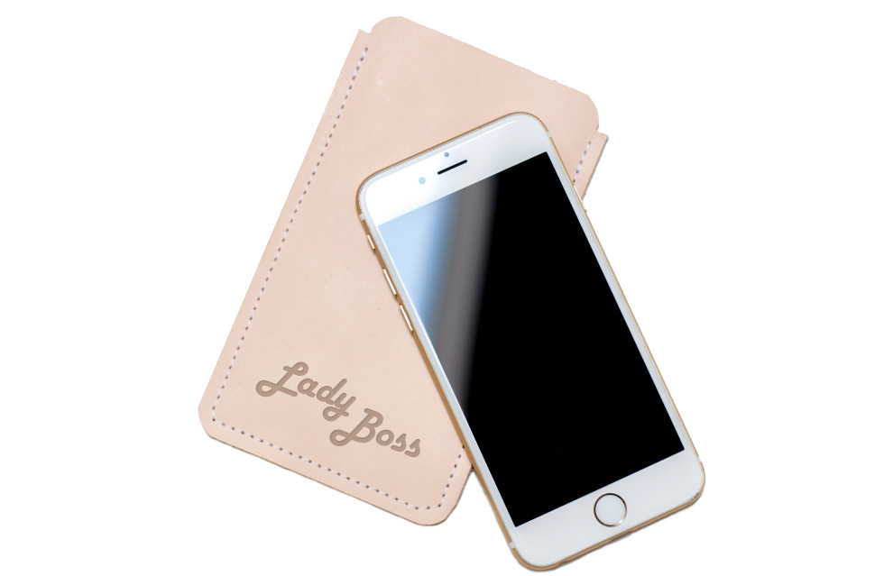 leather iphone phone case sleeve laser engrave engraved