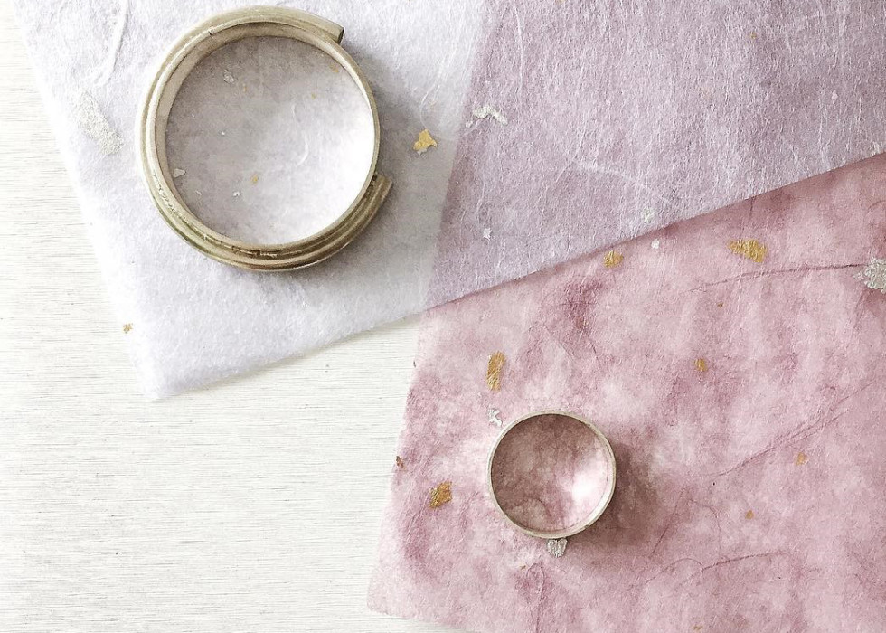 patricia wong jewelry japanese paper japan ring necklace toronto process