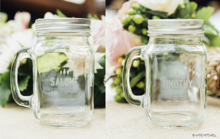 laser engraved glass mason jars wedding gift drink cutting