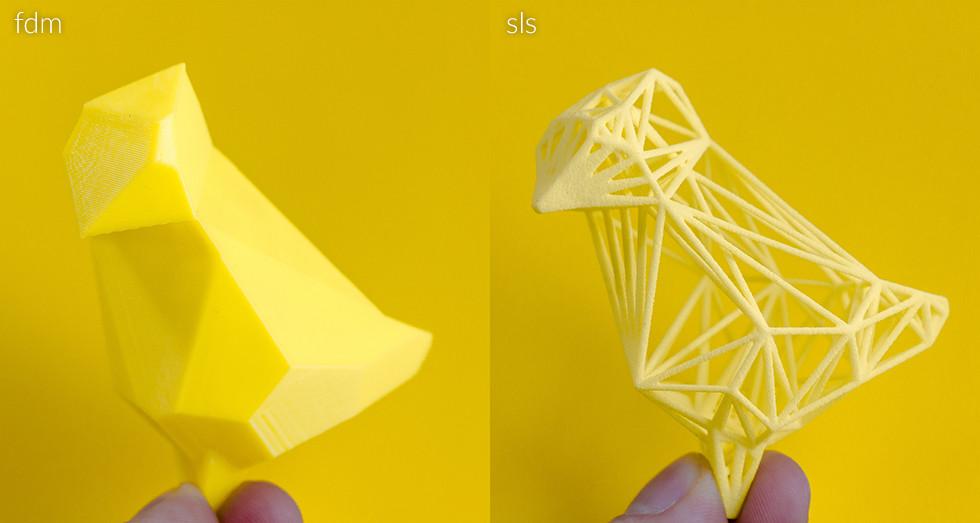 3d print printing sls fdm complexity yellow bird wishing