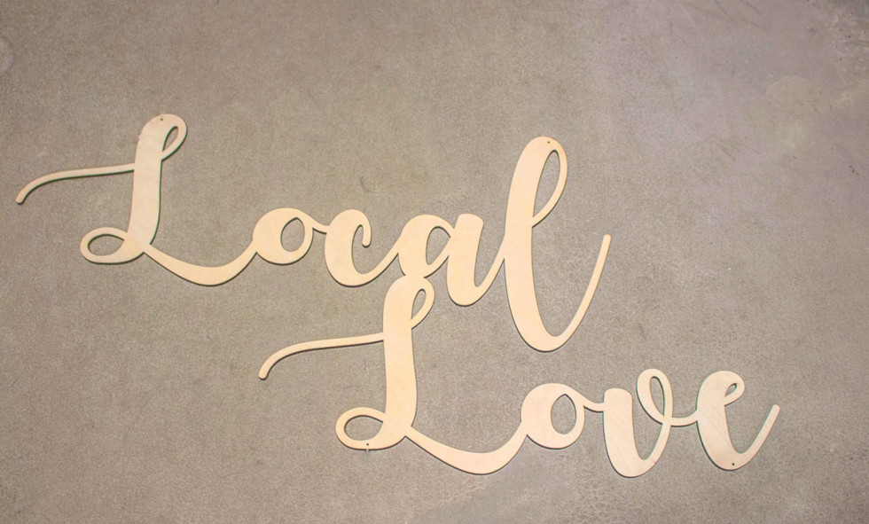 laser cut lasercut engrave sign booth show craft local love