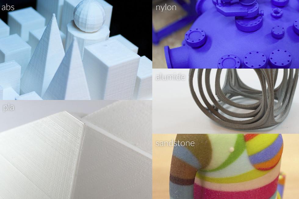 3d print printing sls fdm model alumide nylon sandstone colour color pla abs material sample