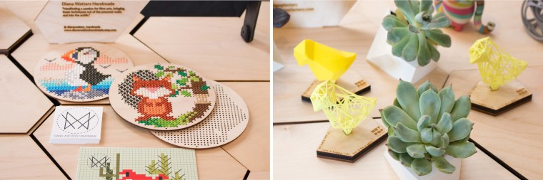 Laser Cut Wooden Cross Stitching Kit and 3D Printed Goods