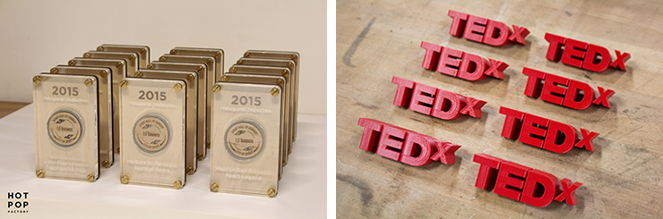 Laser Cut and 3D printed custom awards