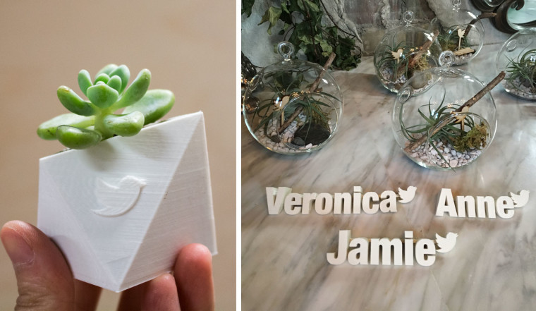 3d printed name tags planters