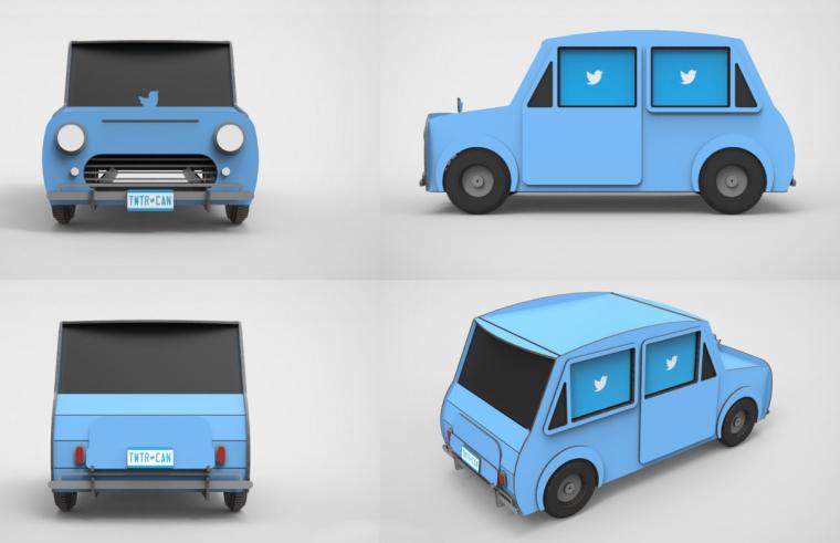 Custom Designed Laser Cut Car Twitter