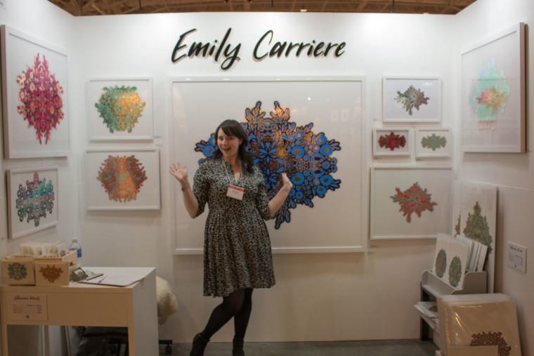 Emily Carriere laser cut paper art