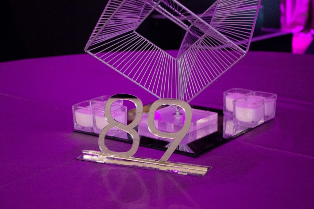 Mirror Acrylic Table Number